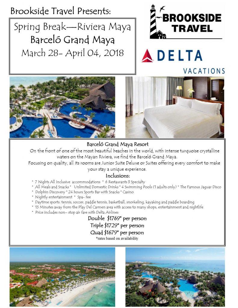 Barcelo Hotels Spring Break 2018 flyerREV