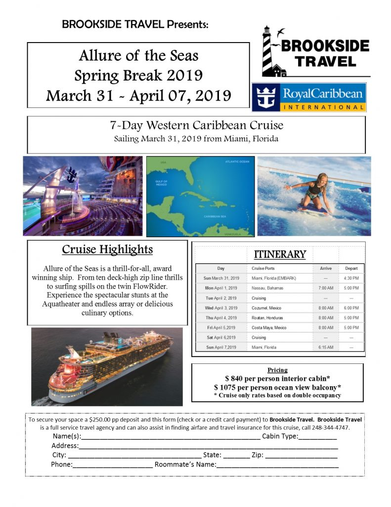 Allure 2019 Cruise updated