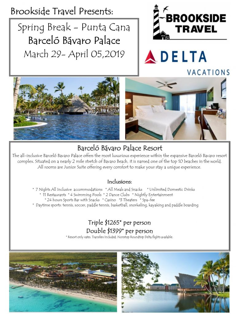 Barcelo Hotels Bavaro Spring Break April 2019