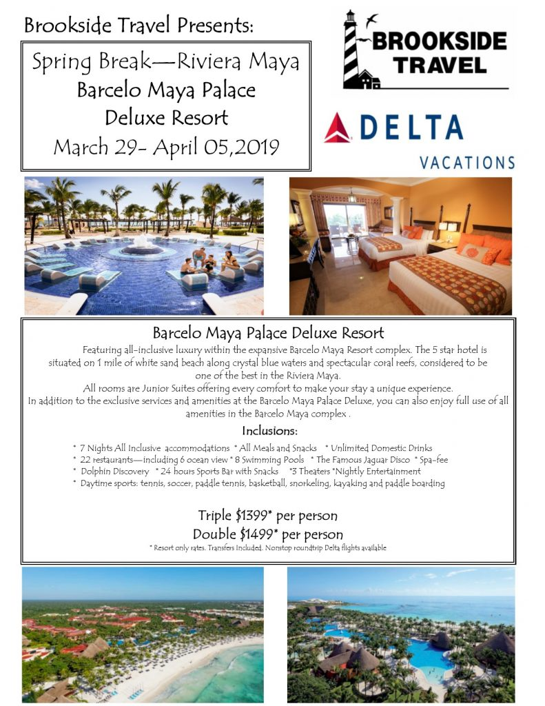 Barcelo Hotels Maya Palace Spring Break April 2019