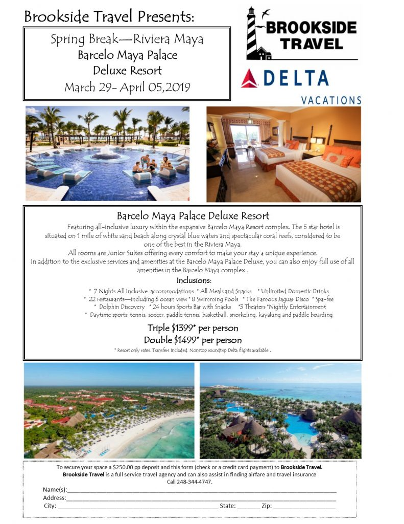 Barcelo Maya Palace Hotels Spring Break April 2019-UPDATED